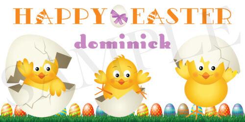 Waterproof Easter Sticker Personalized Easter Chicks Easter Basket Sticker