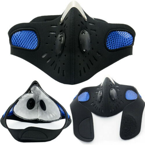 Outdoor Cycling Air Purifying Face Mask Cover Haze Washable Reusable Filter p