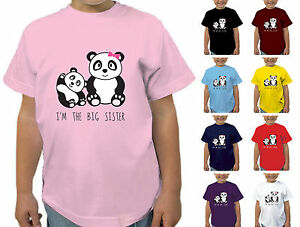 GIRLS-I-039-M-THE-BIG-SISTER-PANDA-DESIGN-T-SHIRT-CHILDRENS-TSHIRT-KIDS-AGES-1-12