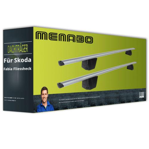 Alu Dachträger für Skoda Fabia Fliessheck II Typ 5J inkl EBA Menabo Delta