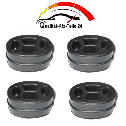 4 Auspuff Gummi Auspuffgummis Halter Schalldämpfer passend für Opel Vectra A