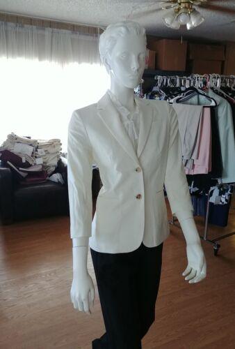 The Row Schoolboy Suit Jacket Blazer Ivory Size 6 NEW