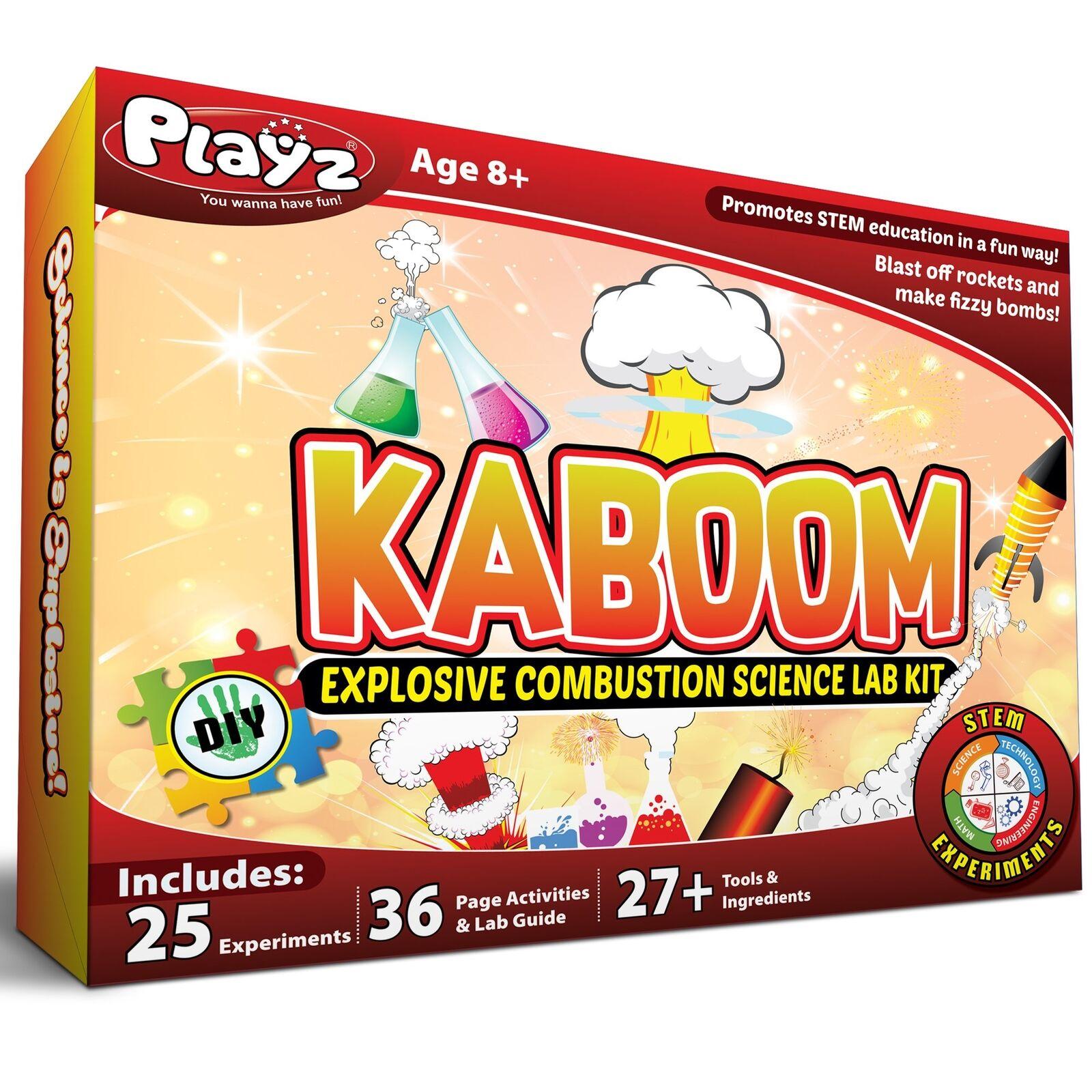 Playz kaboom explosionsartige verbrennung science lab - kit - 25 + sich experimente - heimwerker
