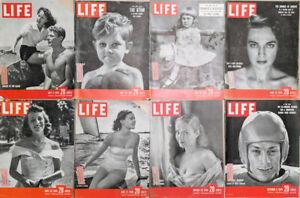 Lot-of-16-1949-LIFE-Mag-Noring-Debutante-Churchill-Paris-Styles-Baby-FDR-Sailing