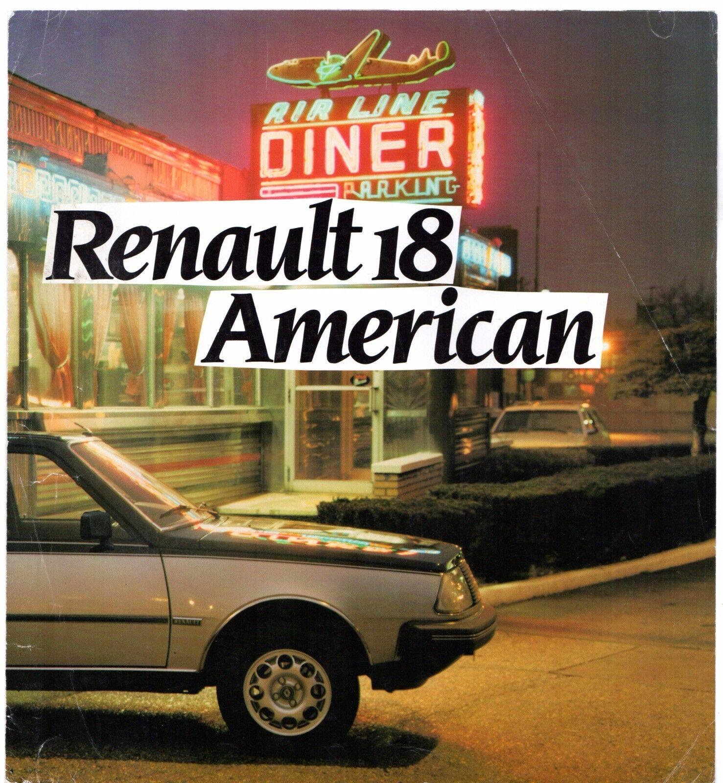 Renault 18 American Limited Edition 1983 Uk Market Sales Brochure For Sale Ebay