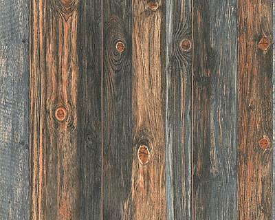 NEW A.S. CREATION WOOD N STONE WOODEN BEAM EFFECT TEXTURED AS WALLPAPER 908612