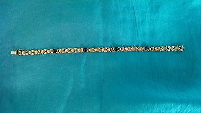 Goldenes Armband 585 mit 4 Saphiren °19 cm °aus Nachlass