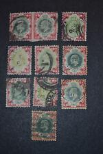 GB 1902 lot de 10 timbres de 1 SHILLING