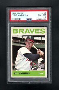1964-TOPPS-35-EDDIE-MATHEWS-HOF-MILWAUKEE-BRAVES-PSA-8-NM-MT-CENTERED