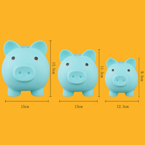 1 pc Piggy Bank Cartoon Pig Shape Creative Plastic Lovely Money Box for Children