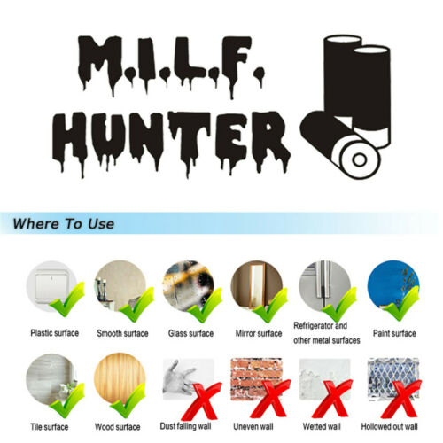 Hunter MILF Funny Wall Sticker Car Window Door Motorcycle Truck Vinyl Decal
