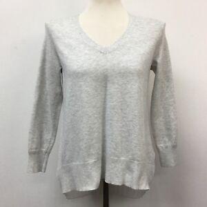 40fe032c390 Karen Millen Top Size 2 Light Gray White Pleated Sheer Back V-Neck 3 ...