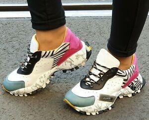 BUENO-Schuhe-20WQ10600-Multicolor-Weiss-Sneaker-Echtleder-Lederinnenfutter