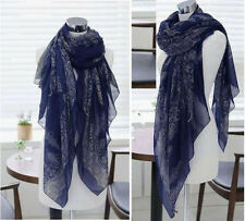Fashion Women's Long Big Soft Cotton Silk Voile Scarf Shawl Wrap NEW
