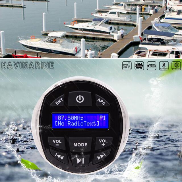 Boat Radio Watertight Stereo Bluetooth Yacht Car ATV Mp3 Player Marine DAB DAB