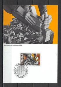 Maxi Card A97 Liechtenstein 1984 People Jobs Construction