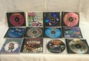 LOT OF 12 PC CD-ROM Computer  Games Bejeweled ,Luma Deluxe ,Card Games, Casino