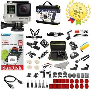 GoPro-HERO-4-Black-Edition-Camera-Action-Kit-Accessories-Bundle-50-PCS