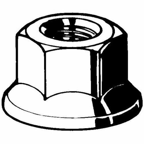 Hexagonal écrous m20 acier galvanisé 10 DIN 6923 en 1661 Avec 11598200001
