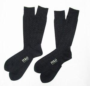Image is loading DRESS-SOCKS-POLO-RALPH-LAUREN-2-PAIR-GREY- bfba2ca916b8