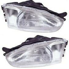 Headlight Set For 97 2002 Mitsubishi Mirage Left And Right With Bulb 2pc Fits 1999 Mitsubishi Mirage