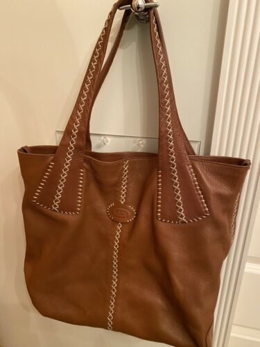 Tods Brown Leather Tote