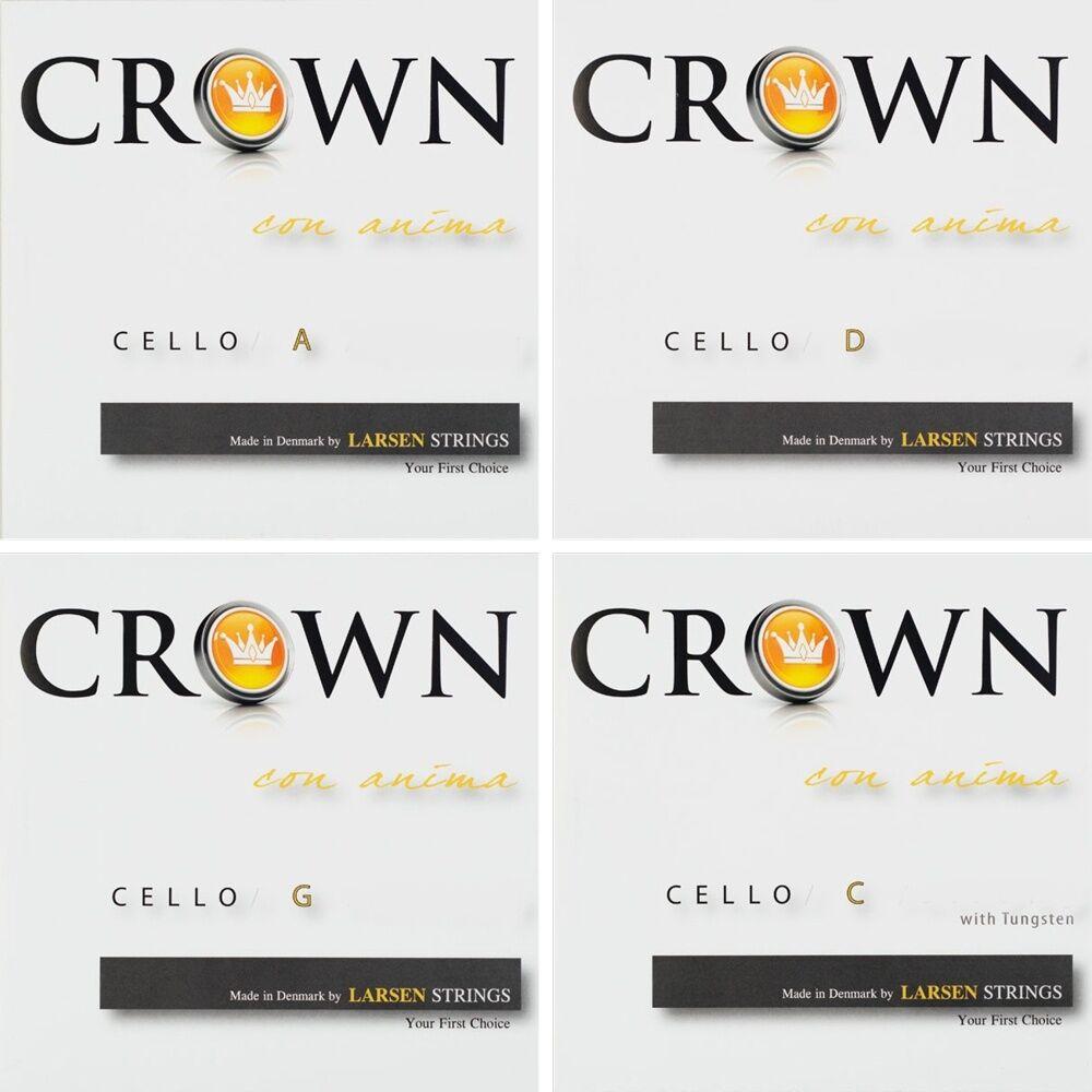 Crown strings par Larsen 4 4 Violoncelle Cordes Lot, Violoncelle STRINGS LOT