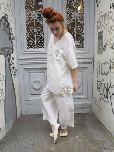 Woman 90´s Bluse 90er Vintage True Damen White Hemd Sommer Blouse Weiß Wq8xwWYU