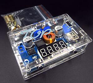 Case 5A CC//CV LED Drive Lithium charger Power Step-down Module USB Voltmeter