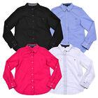 Tommy Hilfiger Womens Shirt Long Sleeve Button Up Top Convertible Sleeve Blouse