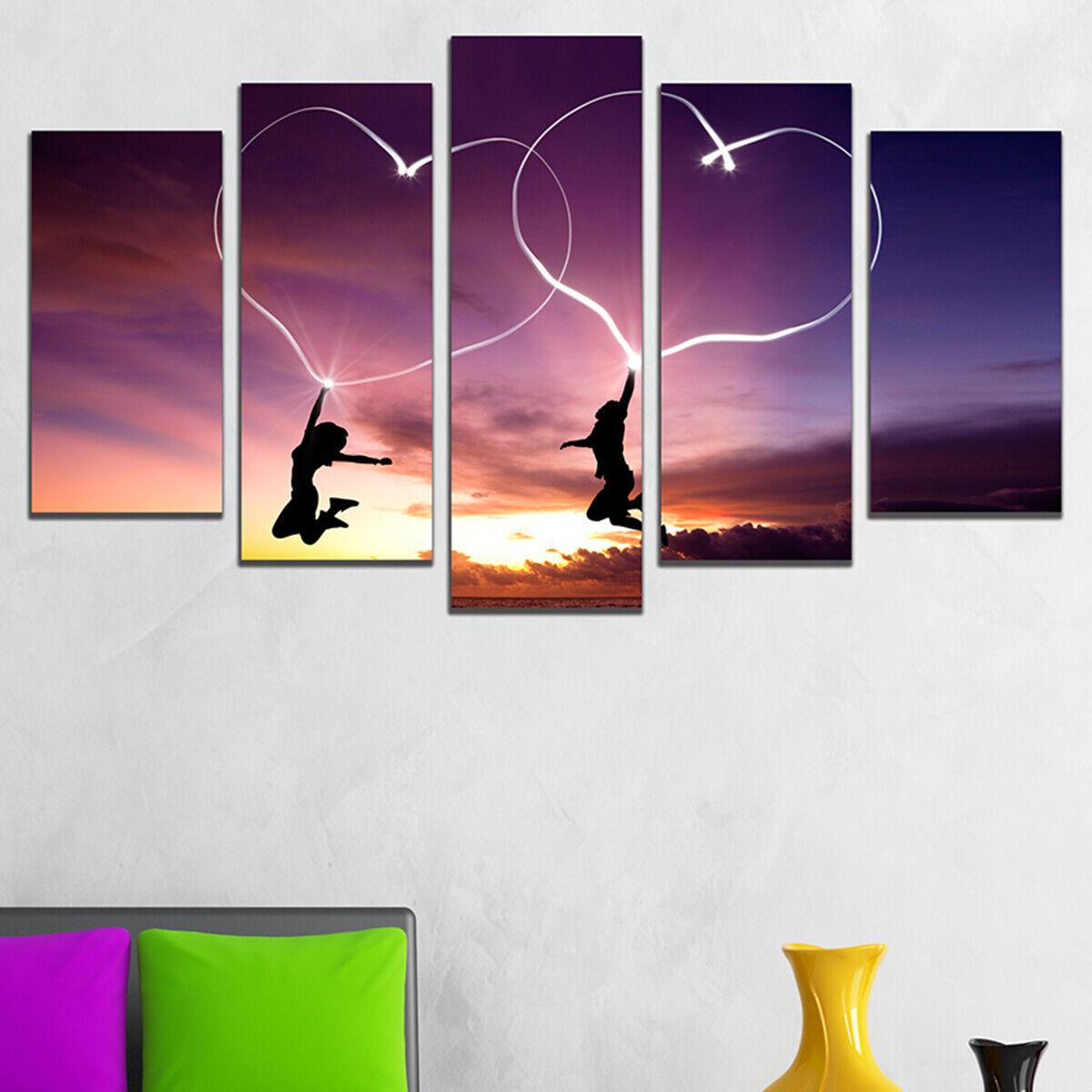 Wandkunst Dekoration Set mit 5 Teile PVC   Leinen Liebe Is in The Luft