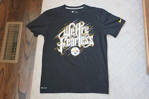 2a1f8e34c Nike Dri Fit Pittsburgh Steelers NFL Short Sleeve Black Shirt Top ...