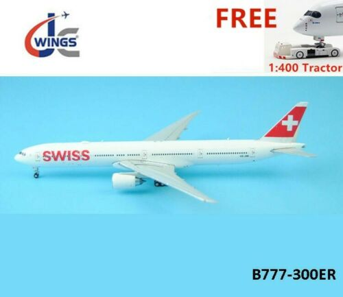 (Rare)1:400 JC Wings XX4684 Swiss Airlines B777-300ER HB-JNB +Free Tractor