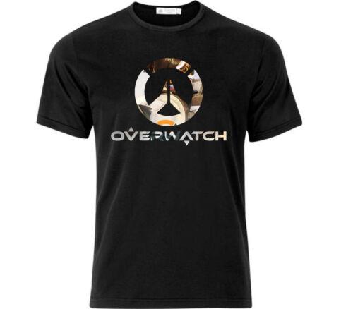 Garçons Overwatch Gaming T Shirt Noir