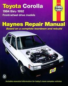 repair manual book toyota corolla 84 92 owners fwd 4afe ebay rh ebay com Honda Service Repair Manual Manufacturers Auto Repair Service Manuals