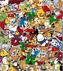 2 X A4 Comic Stickerbomb Sticker Bombing Decal Sheets