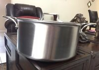 All-Clad d5 Brushed Stainless-Steel Stock Pot, 8-Qt.. w/ Lid, New