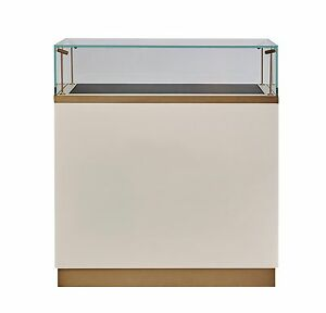 Image Is Loading RETAIL GLASS DISPLAY CABINET COUNTER GLASS SHOWCASE  JEWELRY