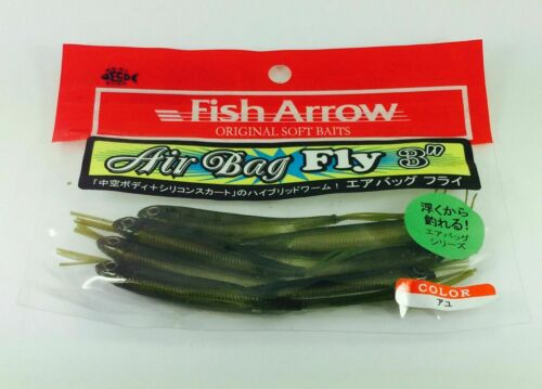 """FISH ARROW FINESSE SOFT LURE HYBRID WORM  AIR BAG FLY 3/"""""""
