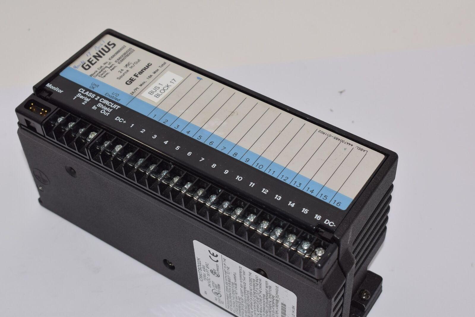 Ge Fanuc IC660BBD022 módulo de E/S, genio discreto discreto discreto bloque de IC660TBD022K a94959