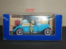 TINTIN NO.68 BOOK COMIC BLUE LOTUS DIECAST MODEL BLUE CAR + FIGURE