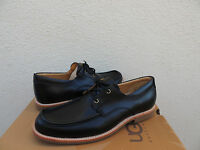 Ugg Via Pitti Black Leather/ Sheepskin Loafers Shoes, Us 10/ Eur 43/ Uk 9