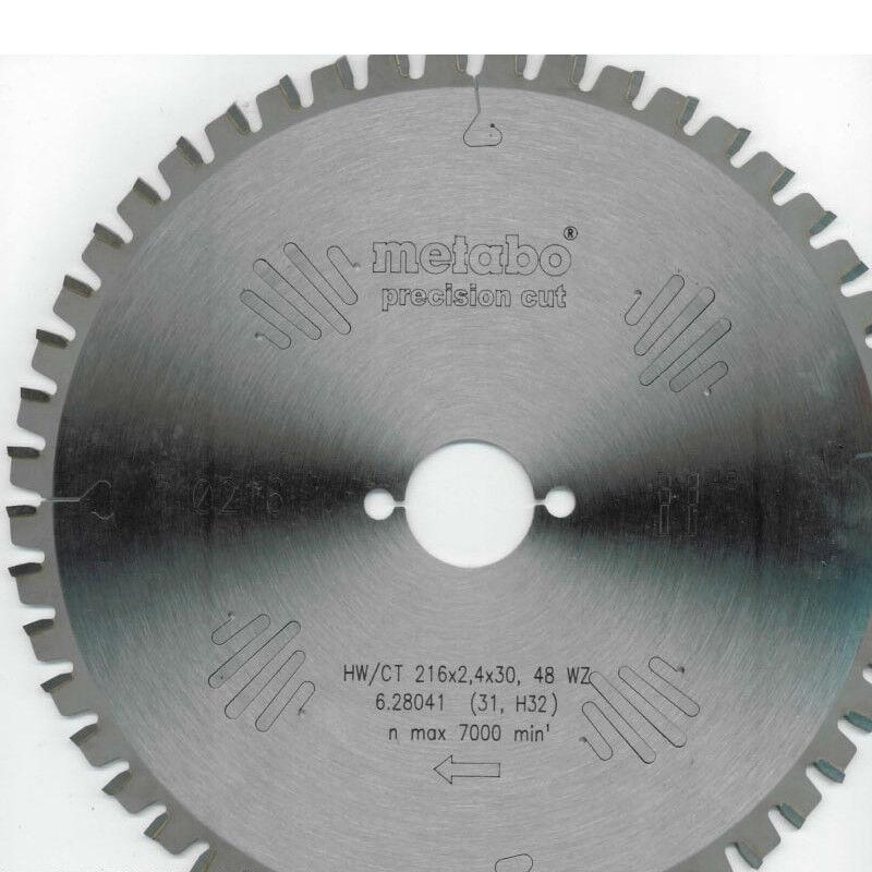 Metabo Kreissägeblatt HW CT 216X30, 48 WZ für KGS 216 M