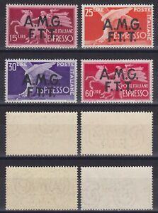 """Trieste A 1947 Espressi """"Democratica"""" serie 4 val. nuova MNH** gomma integra"""