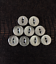 Round Flat Buttons Glossy Shiny 17MM 2 Hole Various Colours Sewing Scrapbooking
