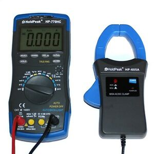 Profi-Digital-Multimeter-TrueRMS-mit-Stromzange-AC-DC-Auto-Range-Kapazitaet-NCV