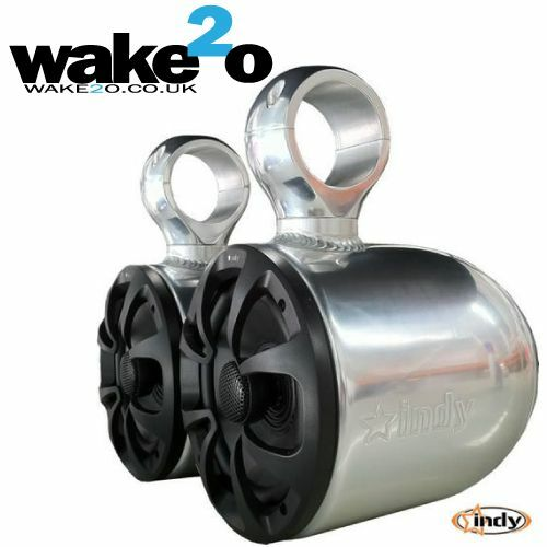 Indy Wakeboard Tower Speakers Anodized Aluminium universal boat
