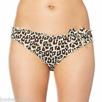 CREAM ANIMAL PRINT SCRUNCH Bikini Fit BRIEFS SIZE 10 or 12 Leopard Print *BNWT*