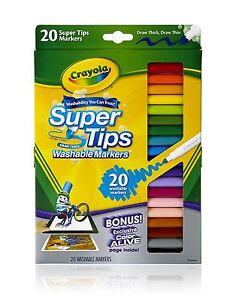 Crayola-20-Supertips-LAVABILE-Marcatori