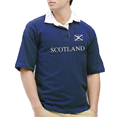 Scotland Retro Short Sleeve Rugby Shirt or Polo. Generic Logo Company